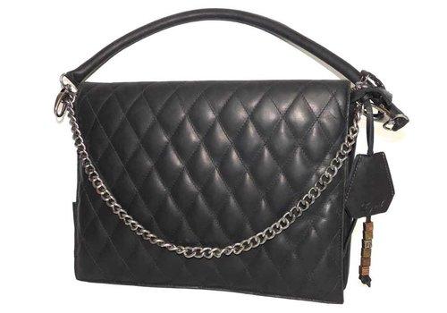 Legend Schwarze Leder Handtasche *Demi*
