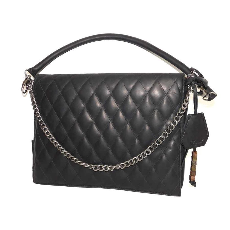 Schwarze Leder Handtasche *Demi*-1