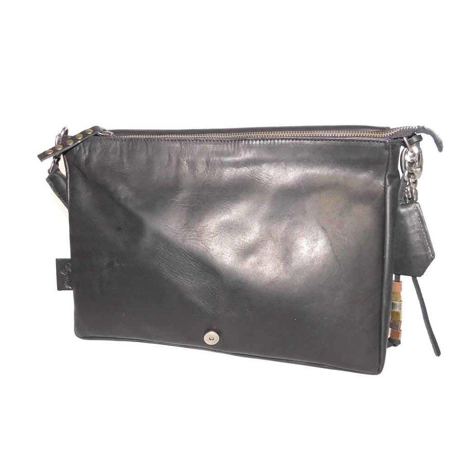 Schwarze Leder Handtasche *Demi*-3