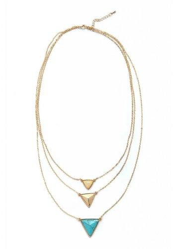 Torrente Schmuck  3er Halskette mit Harz Stein