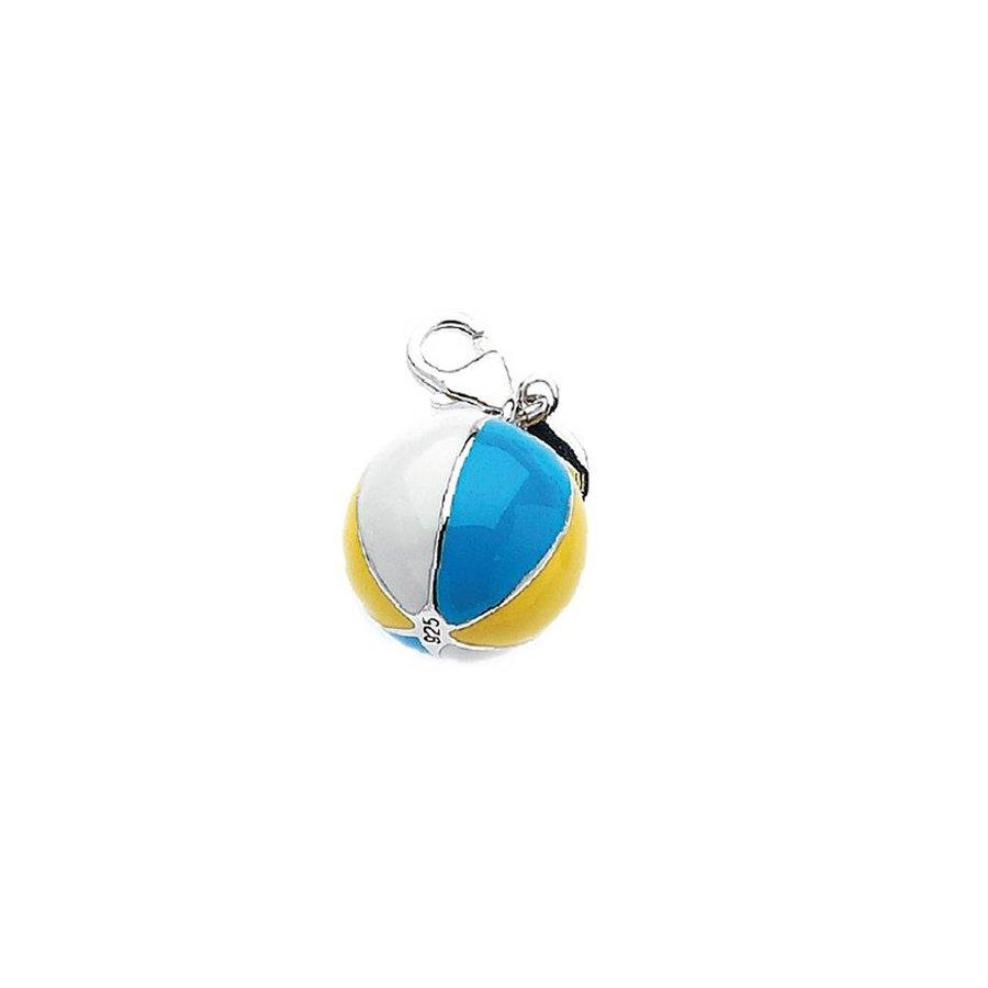 Weiß/Gelb/Blau (Ball) Sterling Silber Anhänger-1