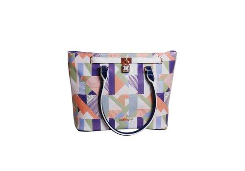 Laura Biagiotti  Weiß/Blau/Multifarben Kunstleder Handtasche