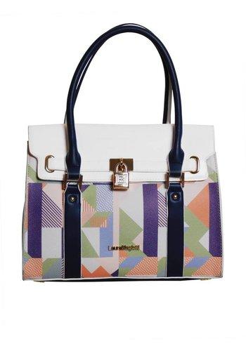 Laura Biagiotti  Weiß/Blau/Multifarben Handtasche