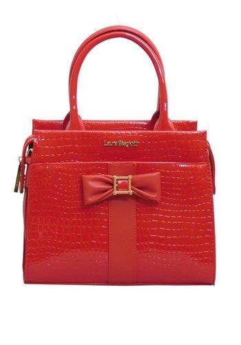 Laura Biagiotti  Rote PU Handtasche