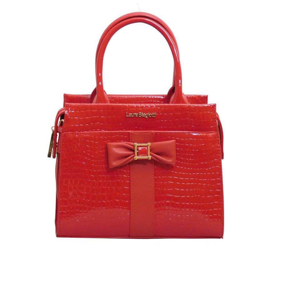 Rote PU Handtasche/Croco Muster-1