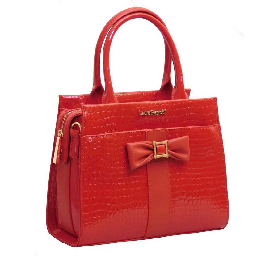 Rote PU Handtasche/Croco Muster-2