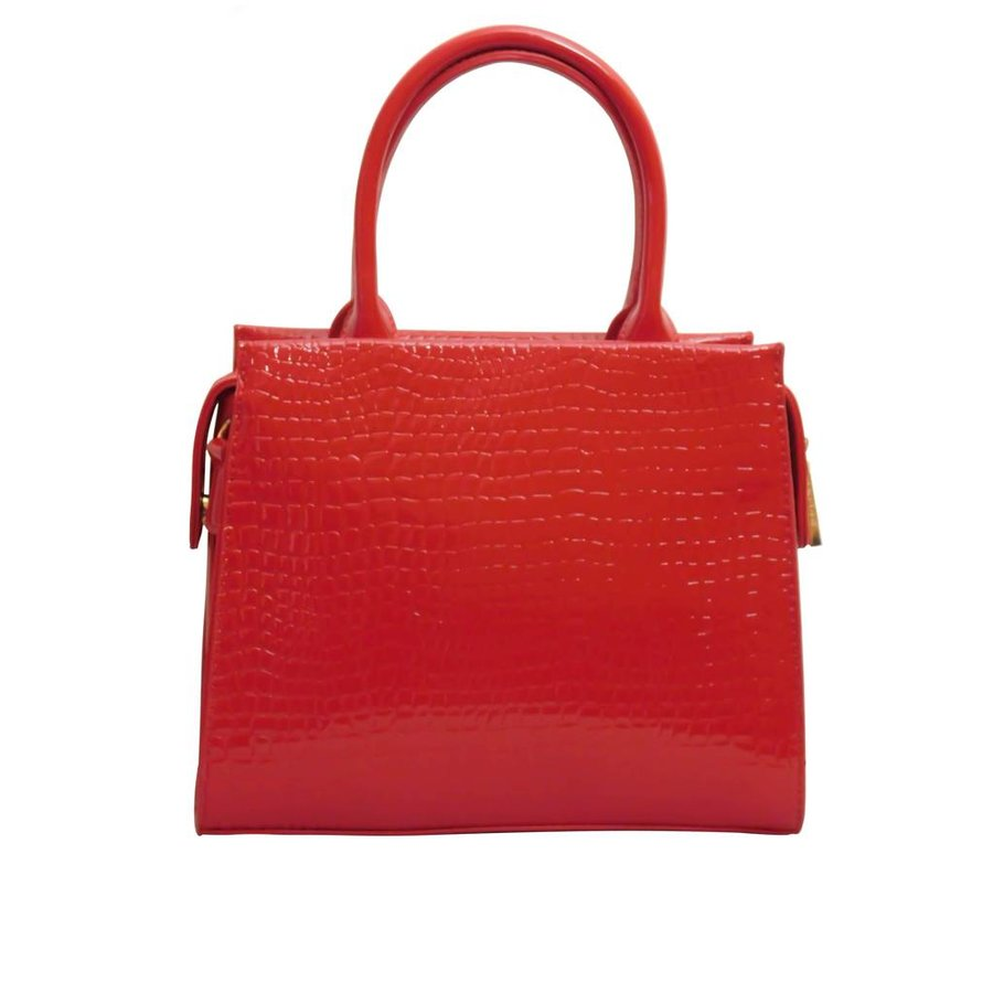 Rote PU Handtasche/Croco Muster-3