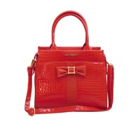 thumb-Rote PU Handtasche/Croco Muster-4