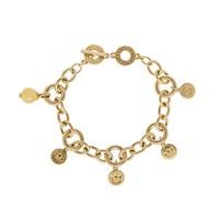 Vergoldet/Yellow Jade Armband Damen