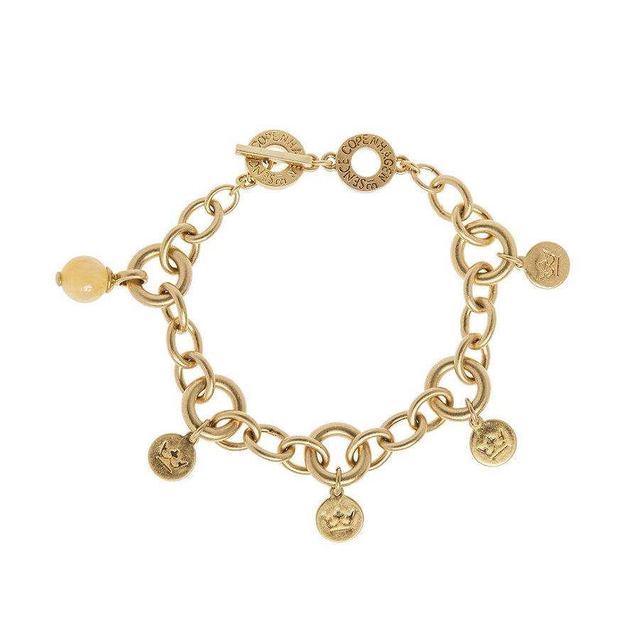 Vergoldet/Yellow Jade Armband Damen-1