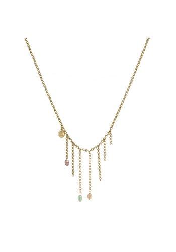 SENCE Copenhagen Multi Stone/Vergoldet Halskette Damen