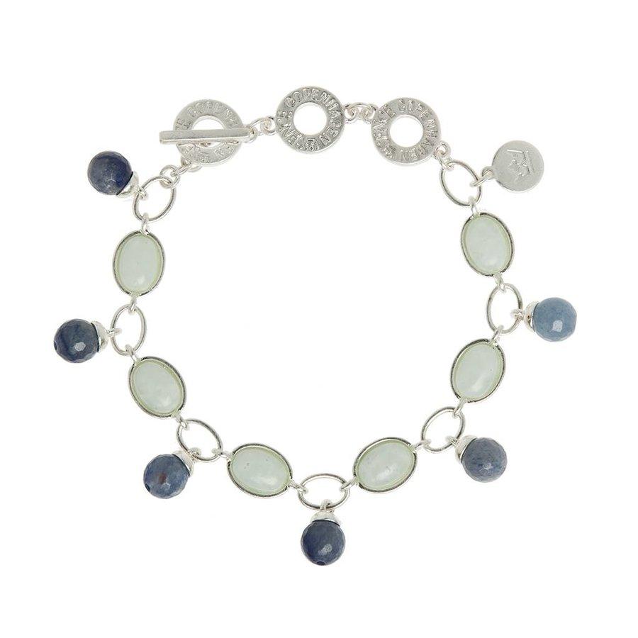 Blue Aventurine/Aquamarine  Armband Damen-1
