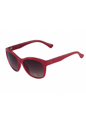 Calvin Klein Rote Abgetönte Damen Sonnenbrille
