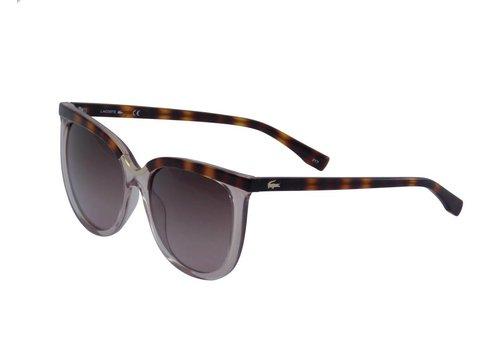 Lacoste Braune Abgetönte Damen Sonnenbrille
