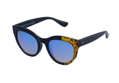Made in Italia Abgetönte Dunkelblaue Damen Sonnenbrille