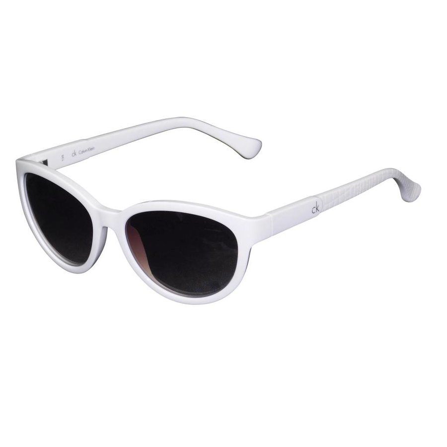 Weiße Abgetönte Damen Sonnenbrille-1