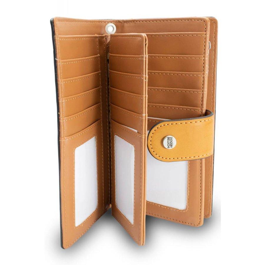 Braunes PU Portemonnaie mit Geprägte Schrift-4