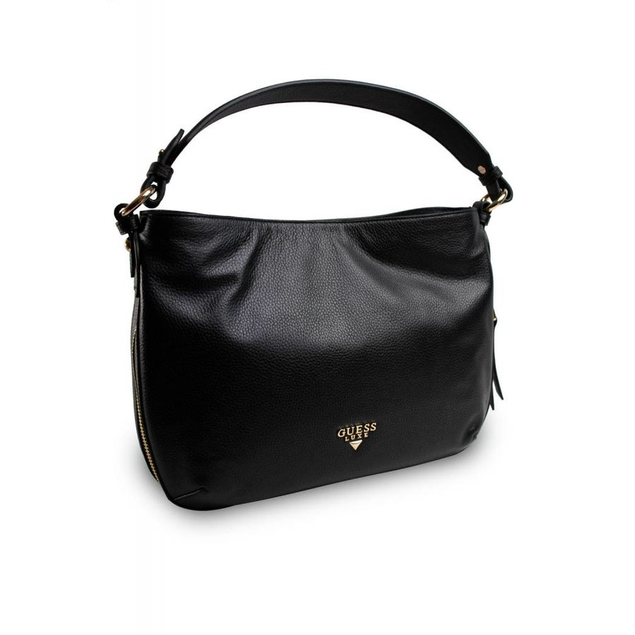 Schwarze Leder Handtasche-2