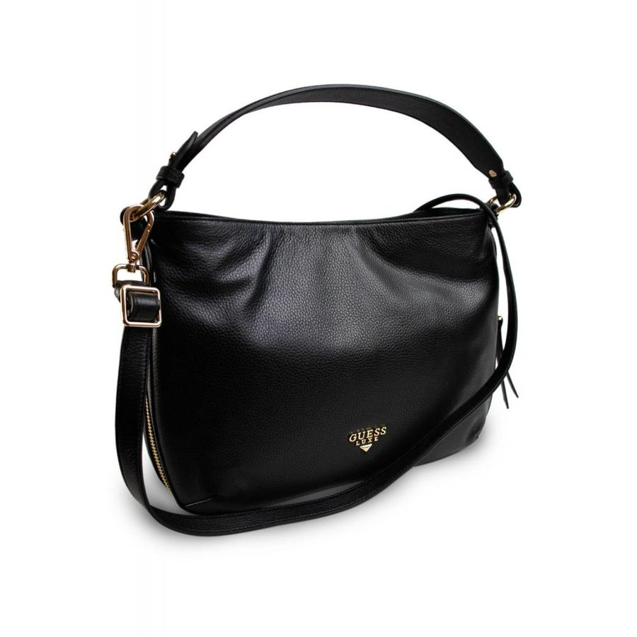 Schwarze Leder Handtasche-1
