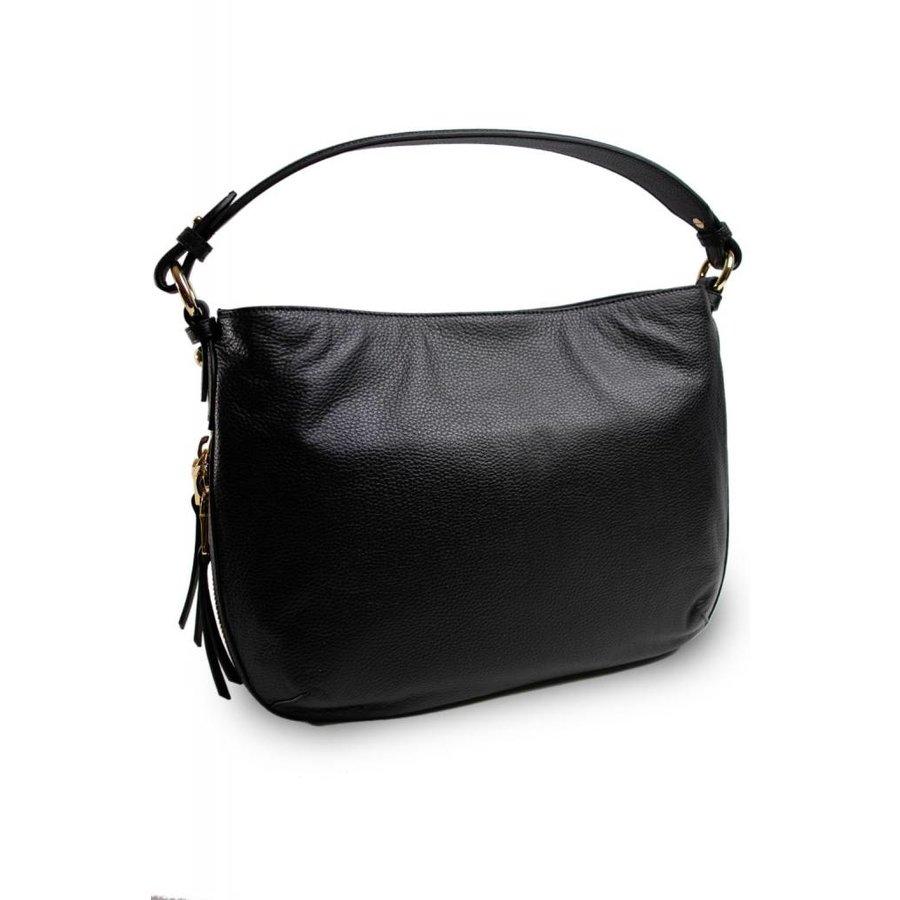 Schwarze Leder Handtasche-3