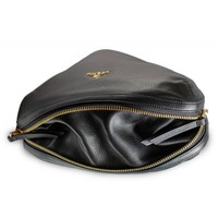 thumb-Schwarze Leder Handtasche-4