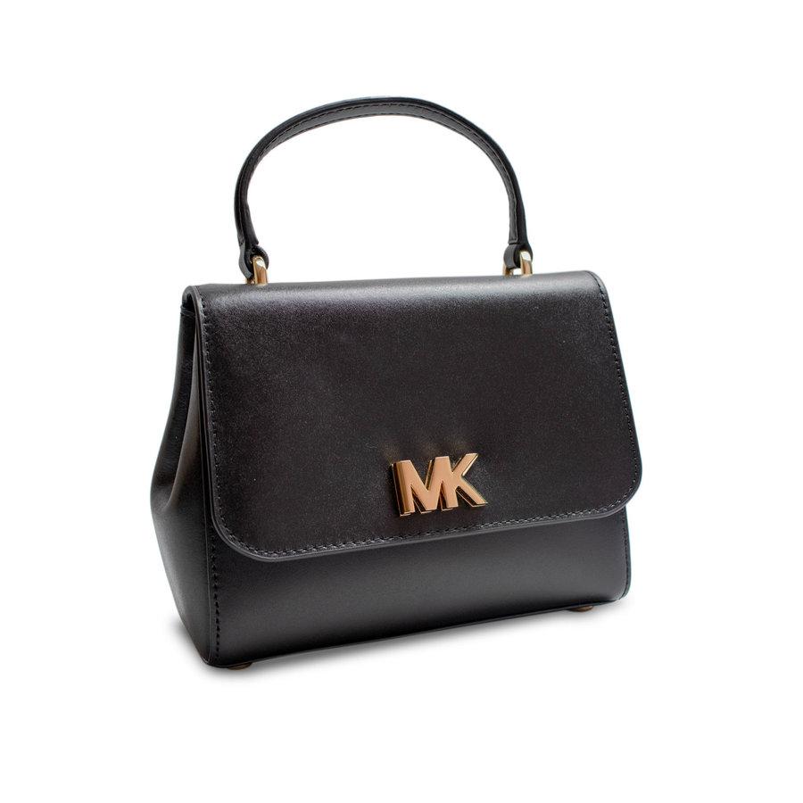 Kleine Schwarz/Goldfarbige Handtasche mit Magnetverschluss-1