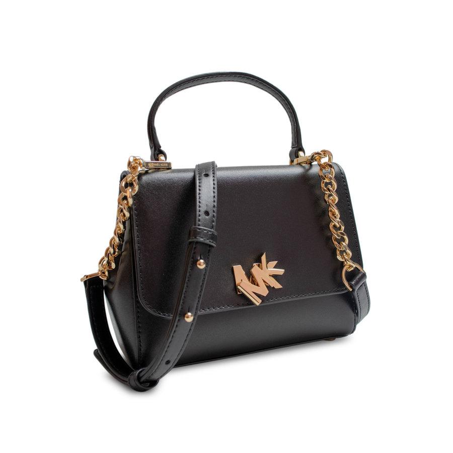 Kleine Schwarz/Goldfarbige Handtasche mit Magnetverschluss-2