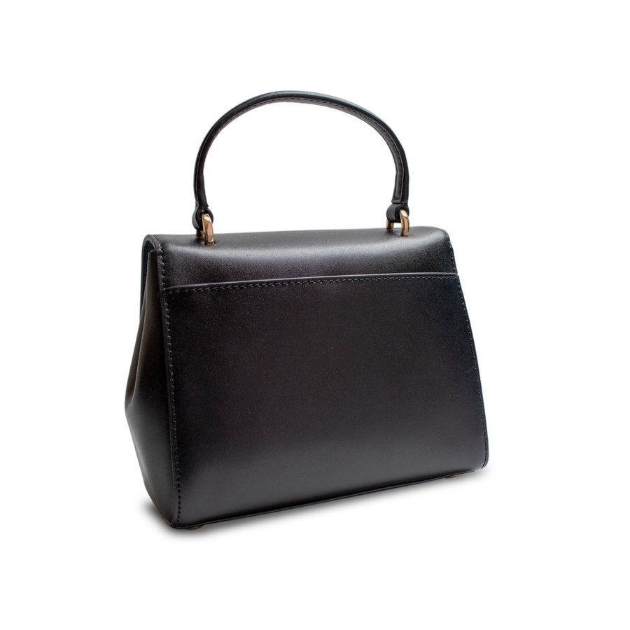 Kleine Schwarz/Goldfarbige Handtasche mit Magnetverschluss-3