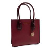 thumb-Kleine Dunkelrote Handtasche mit ein Deko Vorhängeschloss-1