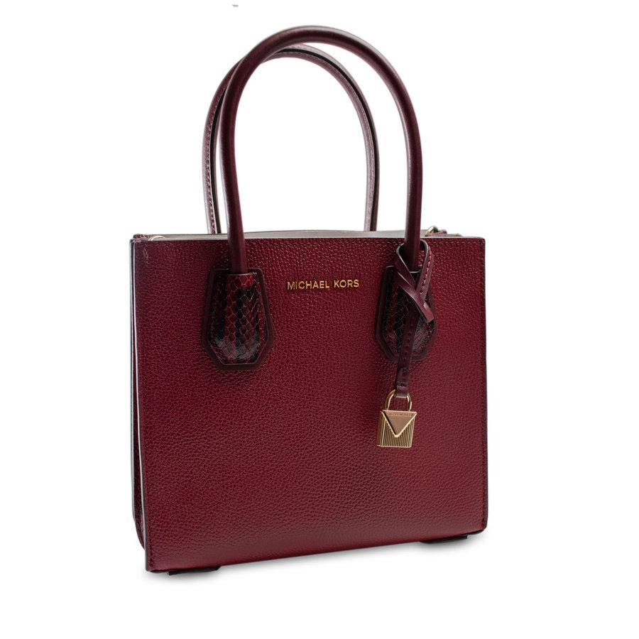 Kleine Dunkelrote Handtasche mit ein Deko Vorhängeschloss-1