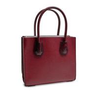 thumb-Kleine Dunkelrote Handtasche mit ein Deko Vorhängeschloss-3