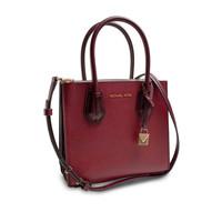 thumb-Kleine Dunkelrote Handtasche mit ein Deko Vorhängeschloss-2