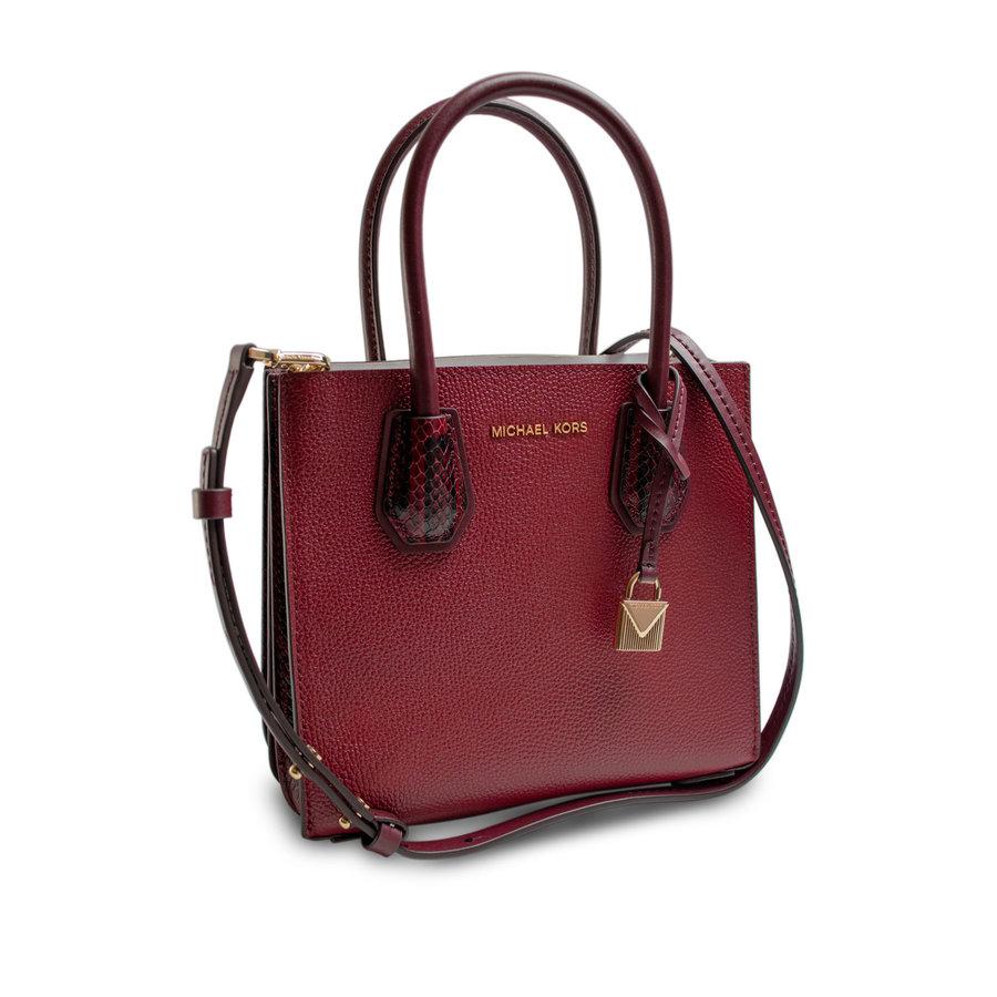 Kleine Dunkelrote Handtasche mit ein Deko Vorhängeschloss-2