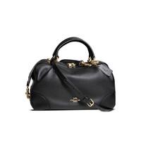 thumb-Schwarze Leder Handtasche-2