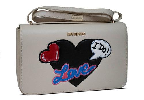 Love Moschino Beige Kunstleder Handtasche