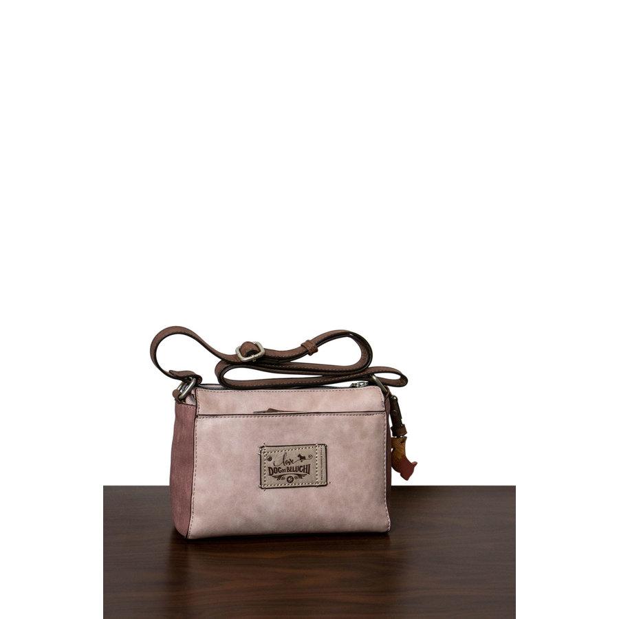 Braun/Rosa Umhängetasche mit Hund Motive *Borneo Collection*-2
