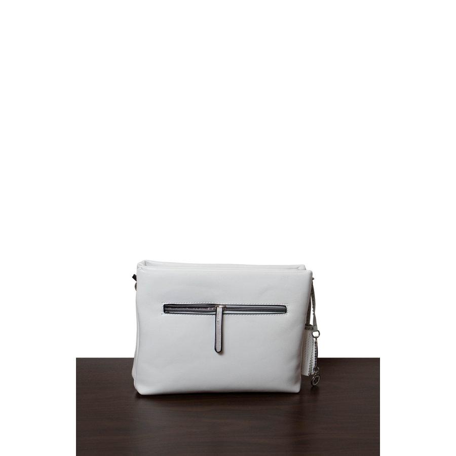 Weiß/Silberfarbige Umhängetasche mit Nieten Verzeihung-3