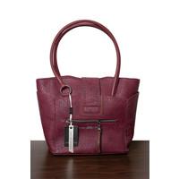 thumb-Burgunder Handtasche Nieten Verzierung-2