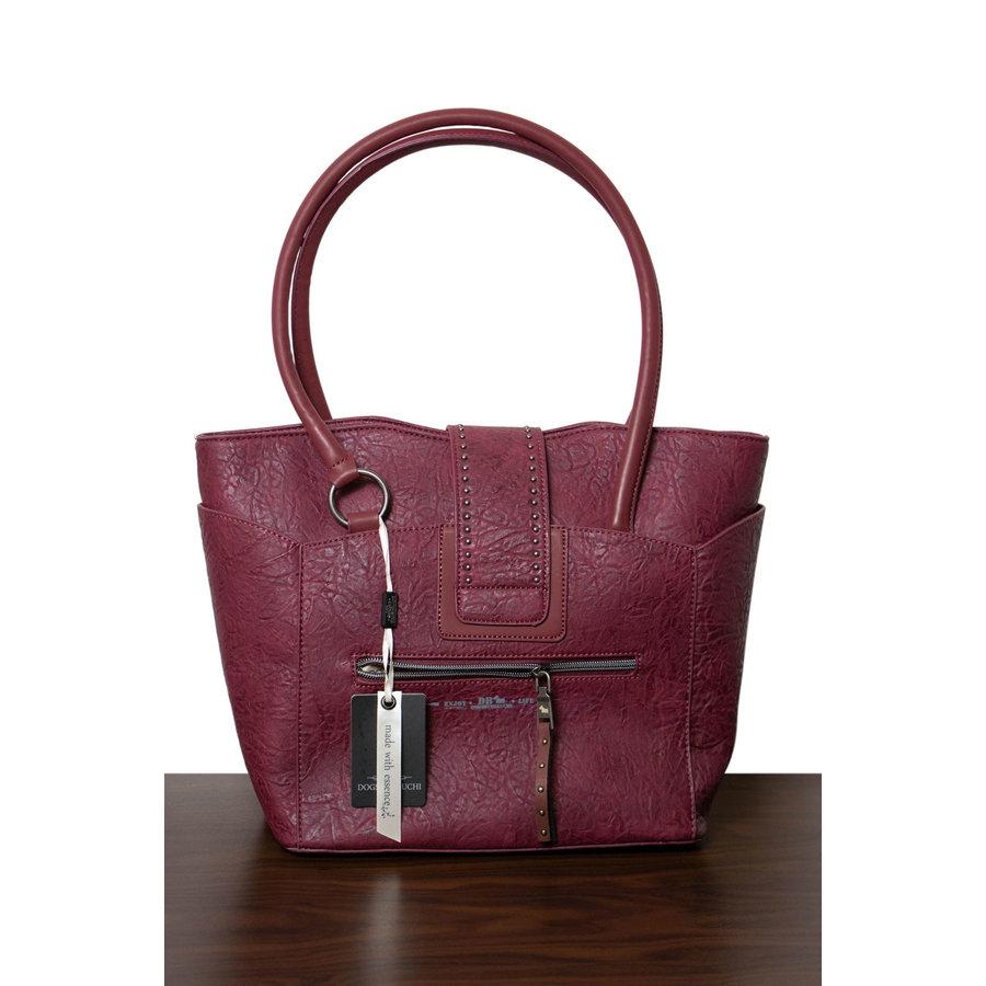 Burgunder Handtasche Nieten Verzierung-2