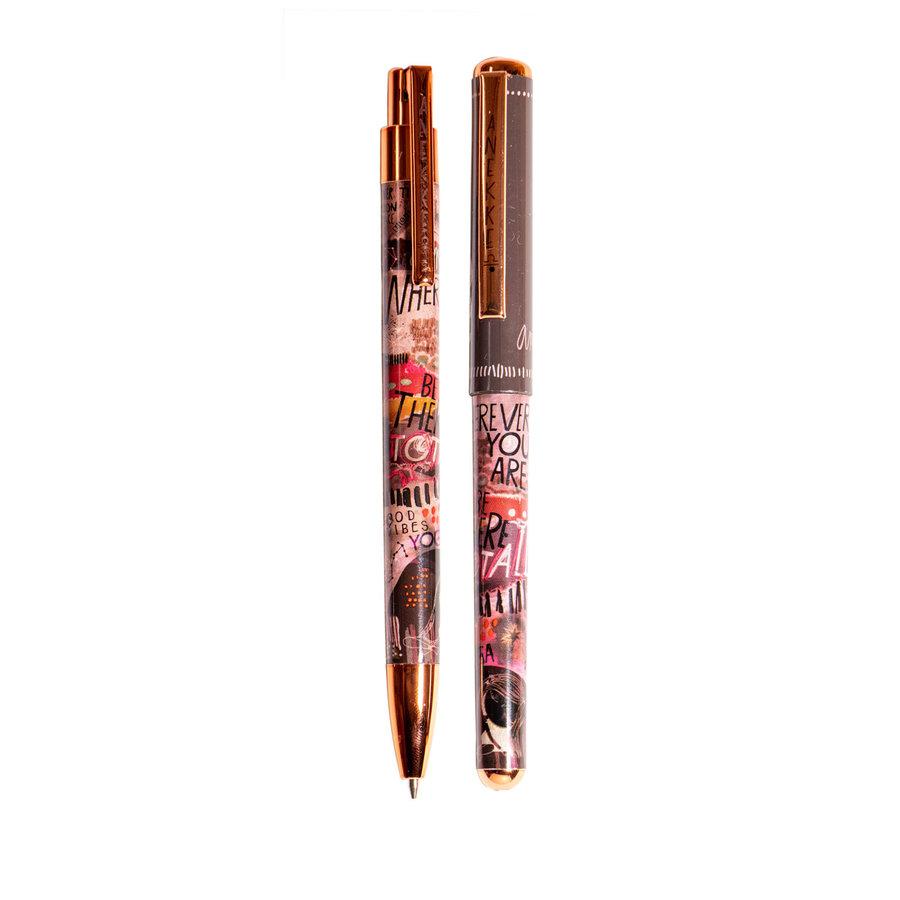 Schwarz/Multifarben/Rosé Kugelschreiber/Bleistift Set-1