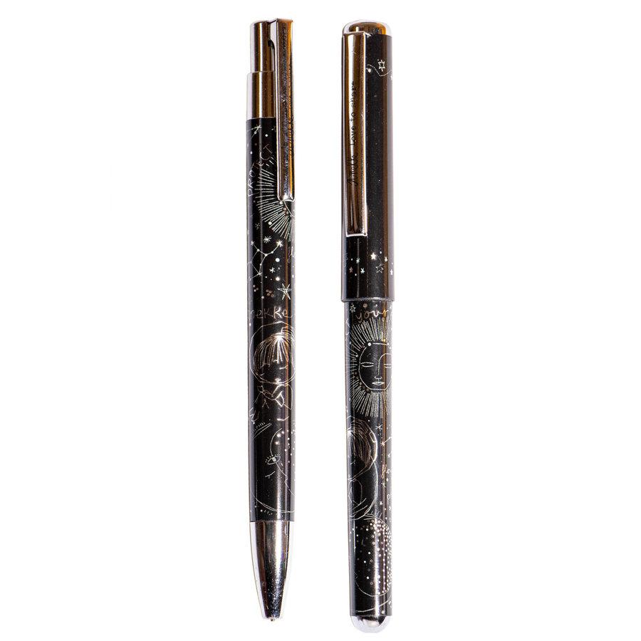 Schwarz/Silberfarbig Kugelschreiber/Bleistift Set *Universe Collection*-1