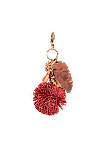 Anekke  Love to share Rot/Rosé Taschen/Schlüssel Anhänger *Jungle*