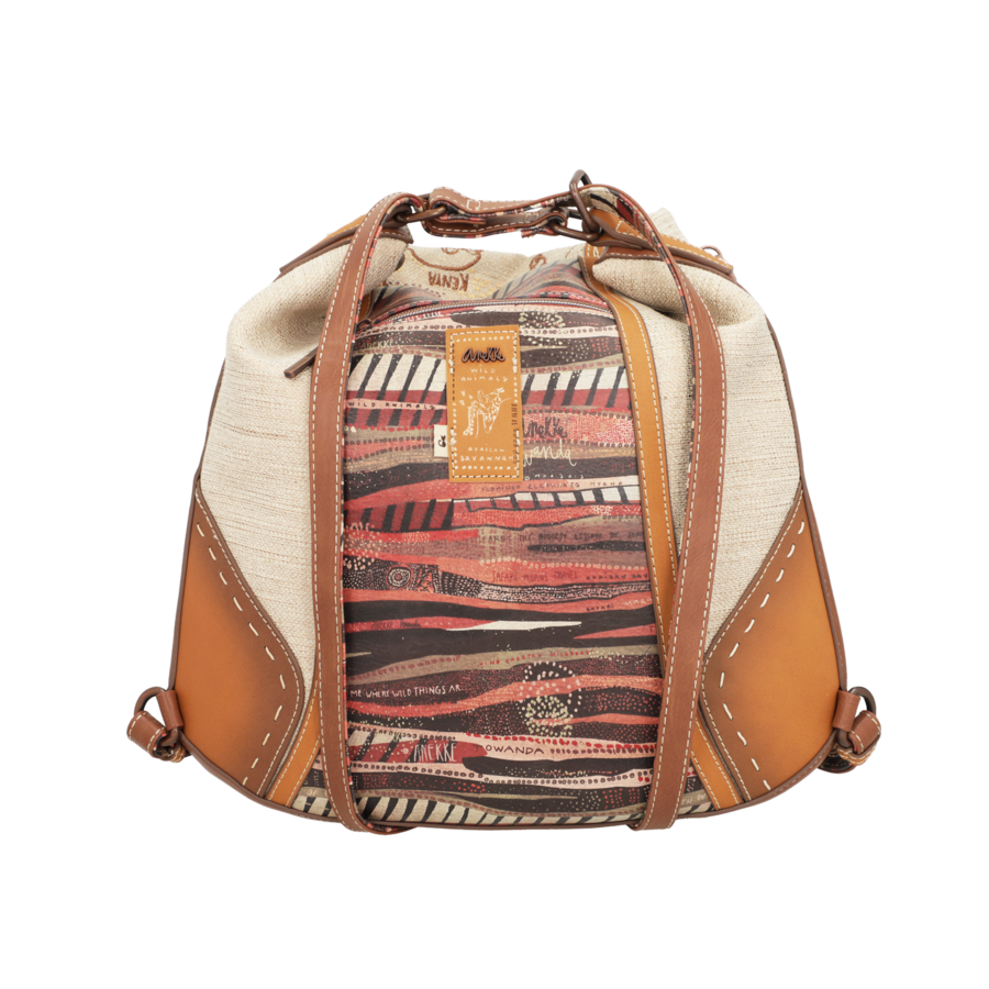 Brauner Shopper/Rucksack *Kenya Collection*-7