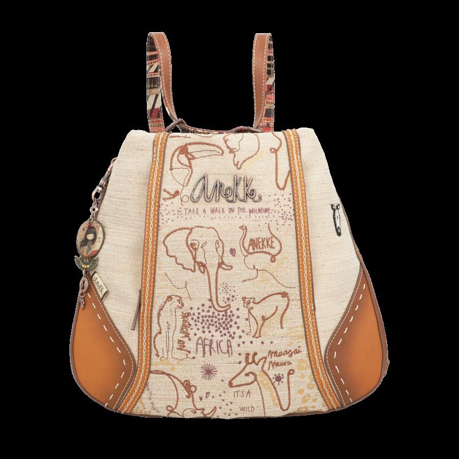 Brauner Shopper/Rucksack *Kenya Collection*-5