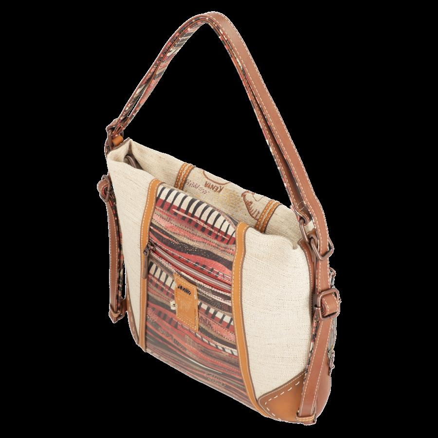 Brauner Shopper/Rucksack *Kenya Collection*-3