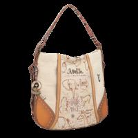 thumb-Brauner Shopper/Rucksack *Kenya Collection*-2