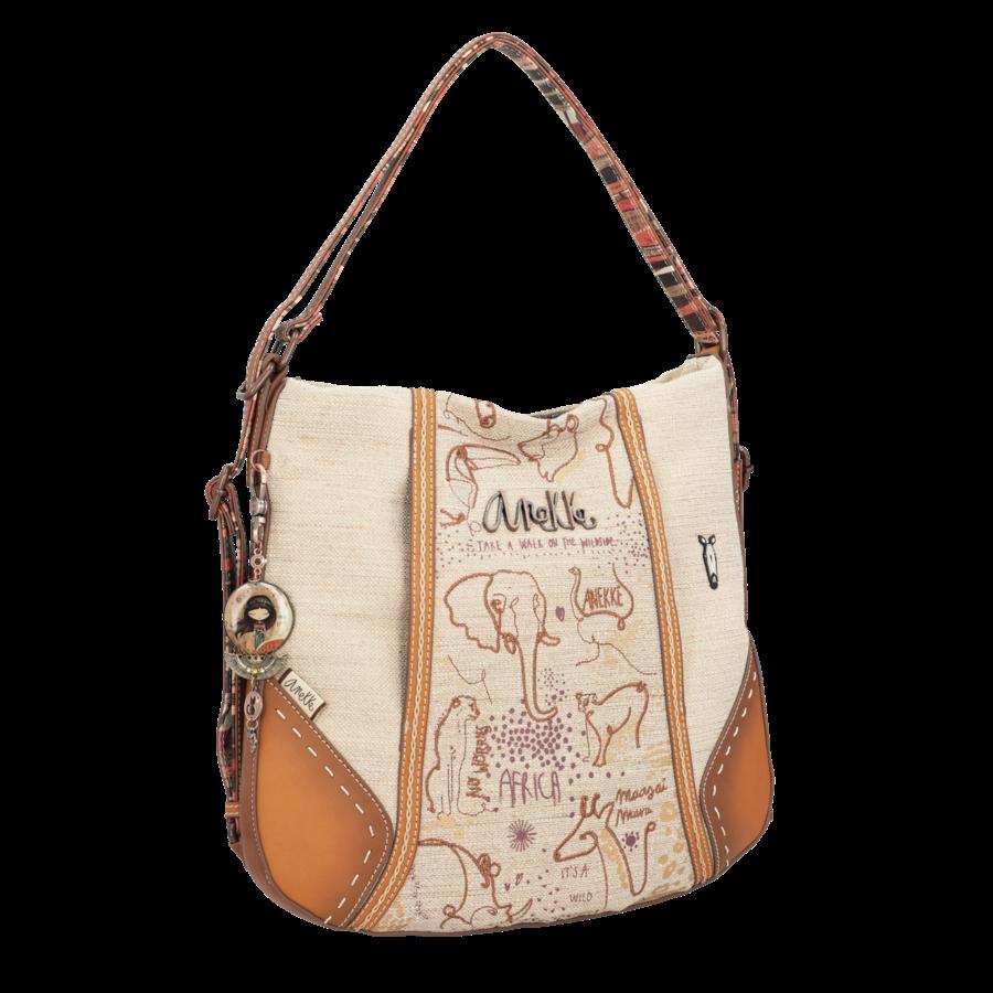 Brauner Shopper/Rucksack *Kenya Collection*-2