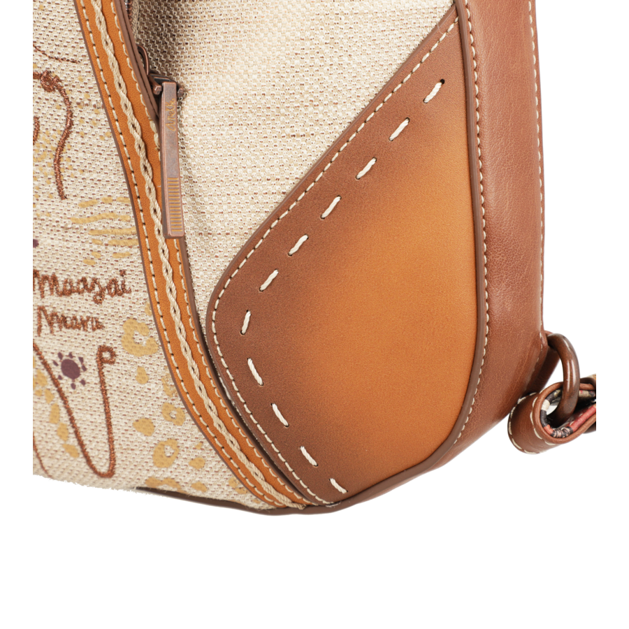 Brauner Shopper/Rucksack *Kenya Collection*-9