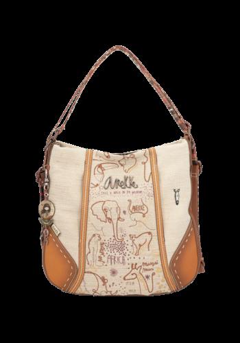 Anekke  Love to share Brauner Shopper/Rucksack *Kenya*
