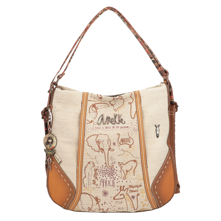 Brauner Shopper/Rucksack *Kenya Collection*-1